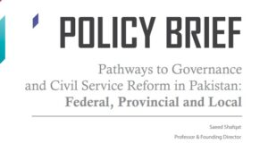 Abstract The purpose of this research is to provide a framework for dialogue on the concept of governance and issues of civil service reform in Pakistan in general and the […]